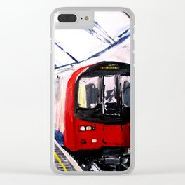 London Underground Northern Line Fine Art Clear iPhone Case