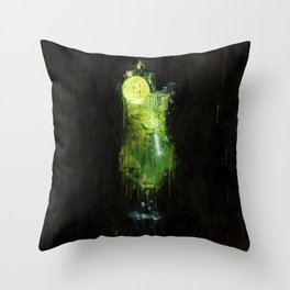 Painted green lime cocktail Throw Pillow