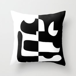 Abstract Figure 01 Throw Pillow