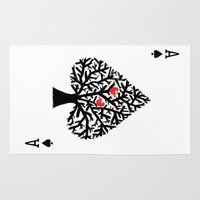 ace Area & Throw Rugs featuring Ace of spade by Picomodi