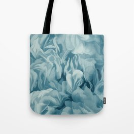 Soft Baby Blue Petal Ruffles Abstract Tote Bag