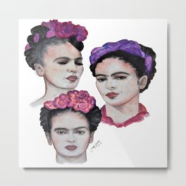 The three Fridas Metal Print