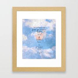 No Spirit of Fear Framed Art Print