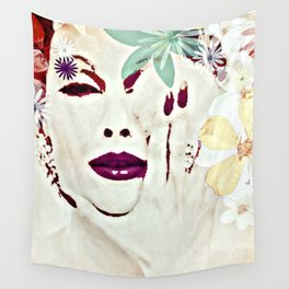 SHE COMES IN COLORS Wall Tapestry