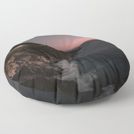 Big Sur Sunset Floor Pillow