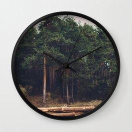 Sad timber industry Wall Clock