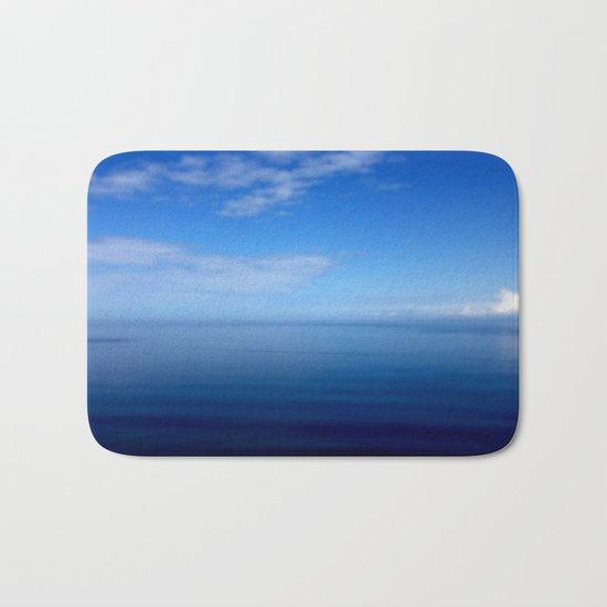 Where Water Meets Sky... | Blue Water and Sky Horizon | Landscape Bath Mat
