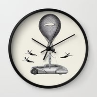 fig Wall Clocks featuring Fig.4. by TRASH RIOT