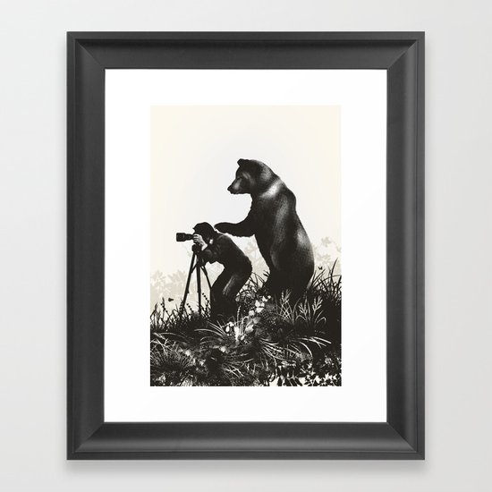The Bear Encounter II Framed Art Print