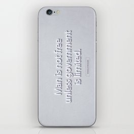 President Ronald Reagan Quote iPhone Skin