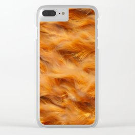 Iron water stream Clear iPhone Case