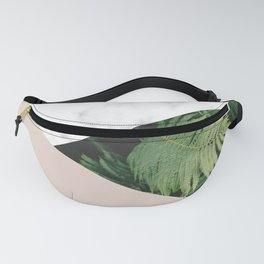 Tropical Marble - Large Geometric Triangles Fanny Pack