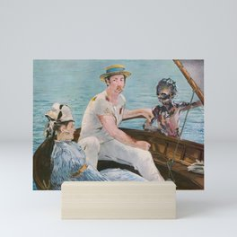 Boating on Crystal Lake: Manet Meets Friday the 13th Mini Art Print