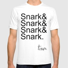 #Snark SMALL White Mens Fitted Tee