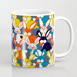 Rabbit colored pattern no2 Coffee Mug