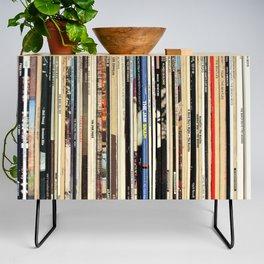 Classic Rock Vinyl Records Credenza
