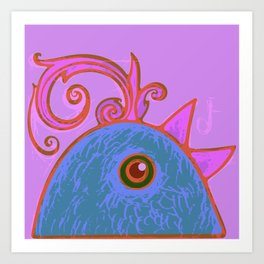 Blue cock Art Print