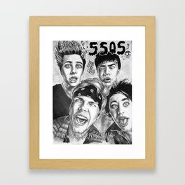 new broken scene/sgfg artwork Framed Art Print