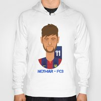 neymar Hoodies featuring Neymar Barcelona by Sport_Designs