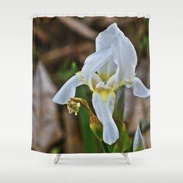 Graveyard Flower Shower Curtain