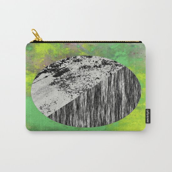 Devoid of Colour - Abstract, geometric, black and white, colour art Carry-All Pouch