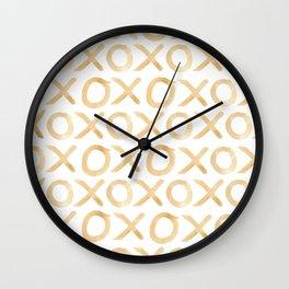 XOXO in Coffee Wall Clock