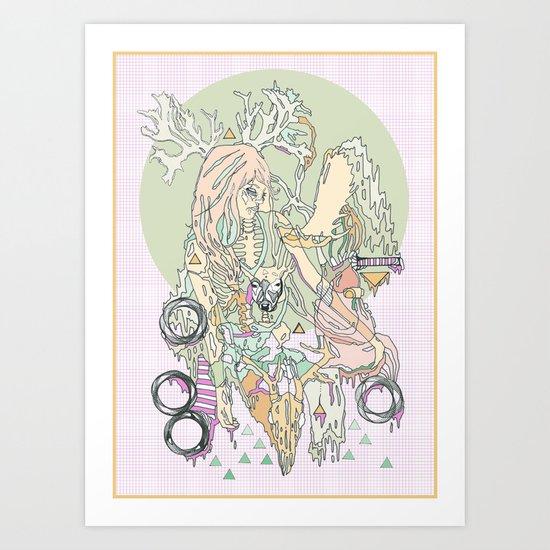 mountbatten pink & bones Art Print