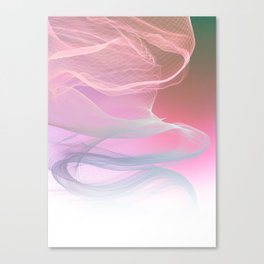 Flow Motion Vibes 1. Pink, Violet and Grey Canvas Print
