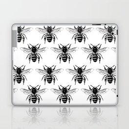 The Bee's Knees Black Laptop & iPad Skin