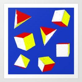 Cubes and Pyramids Art Print