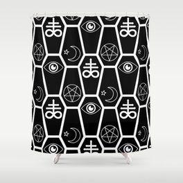 death and stuff Shower Curtain