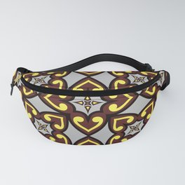The Queen of Hearts Abstract Seamless Pattern Fanny Pack