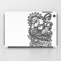 rooster iPad Cases featuring Rooster by MotherSpoon