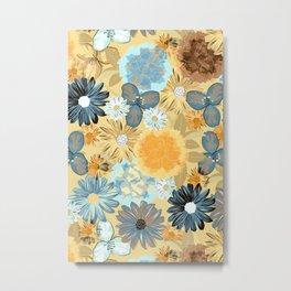 Moody Floral (Naple yellow) Metal Print