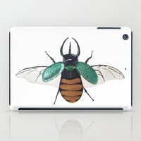 atlas iPad Cases featuring Chalcosoma atlas by Caitlin Krupinski