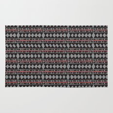 African Tribal Mudcloth Pattern Rug