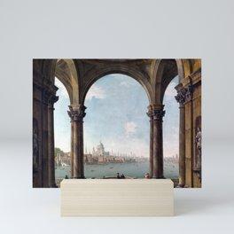 Antonio Joli Capriccio with St. Paul's and Old London Bridge Mini Art Print