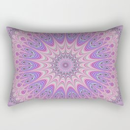 Beautiful detailed Mandala pink purple #mandala Rectangular Pillow