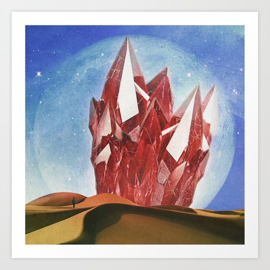 The Crystal Art Print
