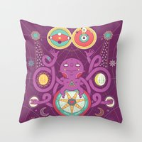 cosmos Throw Pillows featuring Cosmos by Martin Orza