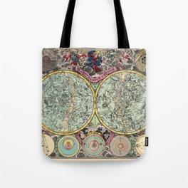 Celestial Map 1730b Tote Bag