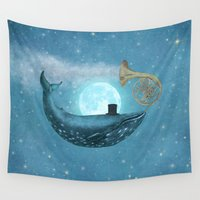 cloud Wall Tapestries featuring Cloud Maker  by Terry Fan