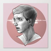 kieren walker Canvas Prints featuring Kieren by sweetfroth