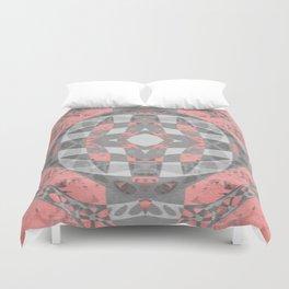 Petal Rose Pink Boho Geometric Portal Duvet Cover