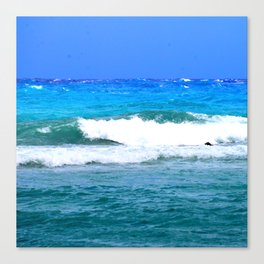 Tropical Ocean Surf Waves Canvas Print