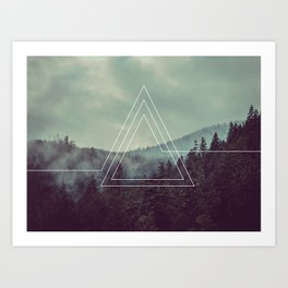 Forest Triangles Art Print