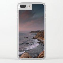 California Coast Sunset Clear iPhone Case