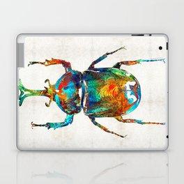 Colorful Beetle Art - Scarab Beauty - By Sharon Cummings Laptop & iPad Skin