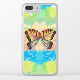 Simply Butterfly Clear iPhone Case