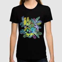 Jungle animals pattern T-shirt